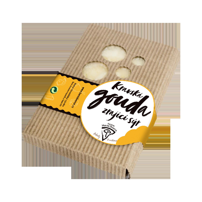 Statek Horní Dvorce: kravská gouda zrající sýr
